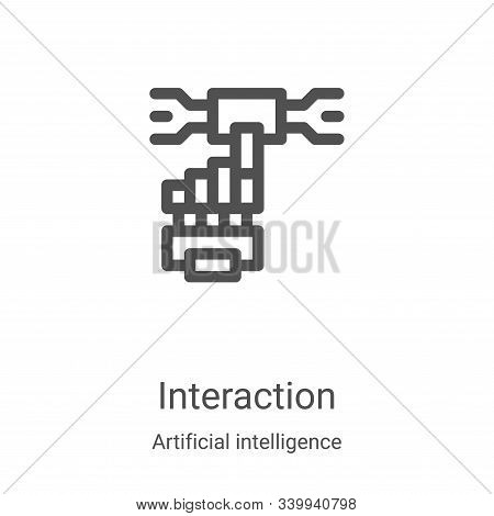interaction icon isolated on white background from artificial intelligence collection. interaction i