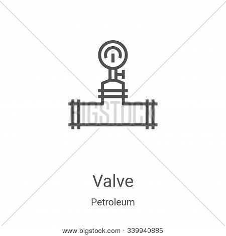 valve icon isolated on white background from petroleum collection. valve icon trendy and modern valv