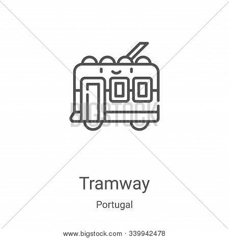 tramway icon isolated on white background from portugal collection. tramway icon trendy and modern t