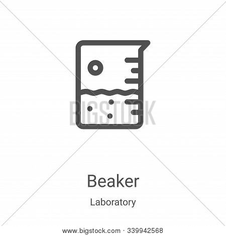 beaker icon isolated on white background from laboratory collection. beaker icon trendy and modern b
