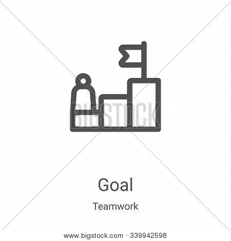 goal icon isolated on white background from teamwork collection. goal icon trendy and modern goal sy