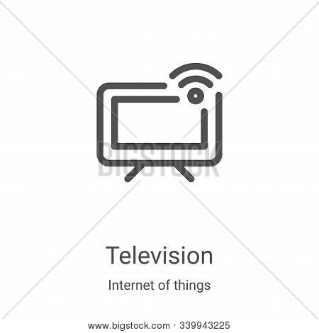 television icon isolated on white background from internet of things collection. television icon tre