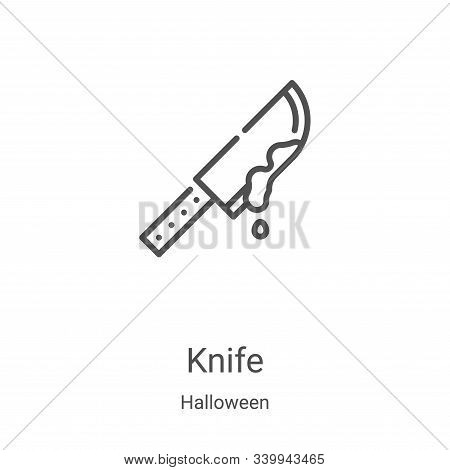 knife icon isolated on white background from halloween collection. knife icon trendy and modern knif
