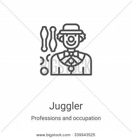juggler icon isolated on white background from professions and occupation collection. juggler icon t
