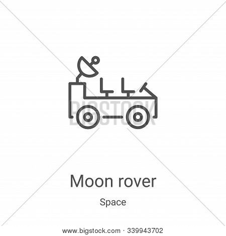 moon rover icon isolated on white background from space collection. moon rover icon trendy and moder