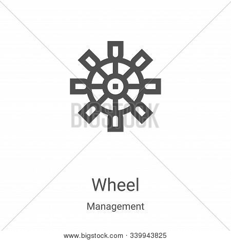 wheel icon isolated on white background from management collection. wheel icon trendy and modern whe