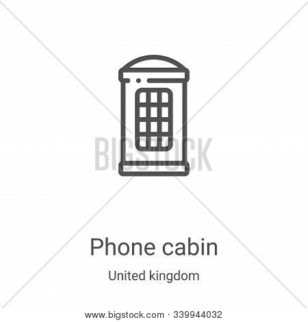 phone cabin icon isolated on white background from united kingdom collection. phone cabin icon trend