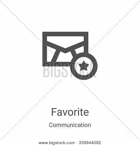favorite icon isolated on white background from communication collection. favorite icon trendy and m