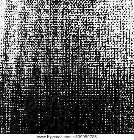 Background, Pattern, Texture Of Natural Fabrics (cotton, Textiles, Linen, Grunge ). Monochrome Horiz