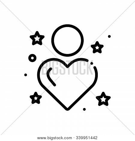Black Line Icon For Sincerity Reality Tangibility Entity Outness