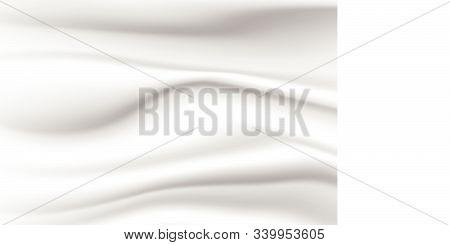 Abstract White Background Of Grunge Silk Texture Satin Velvet Material Elegant Wallpaper Design