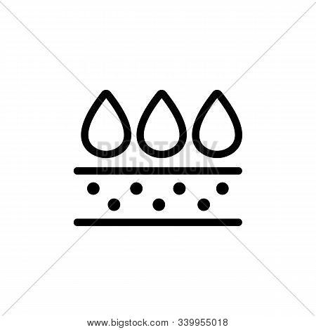 Water-repellent Vector Icon. A Thin Line Sign. Isolated Contour Symbol Illustration