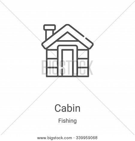 cabin icon isolated on white background from fishing collection. cabin icon trendy and modern cabin