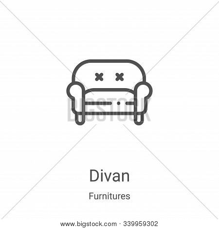 divan icon isolated on white background from furnitures collection. divan icon trendy and modern div