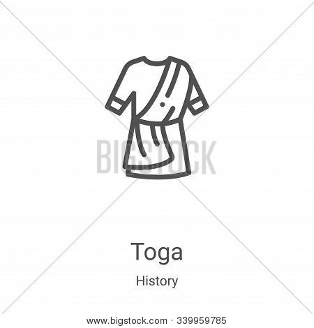 toga icon isolated on white background from history collection. toga icon trendy and modern toga sym