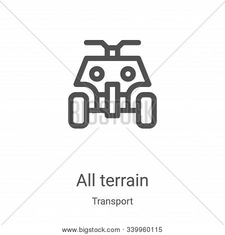 all terrain icon isolated on white background from transport collection. all terrain icon trendy and