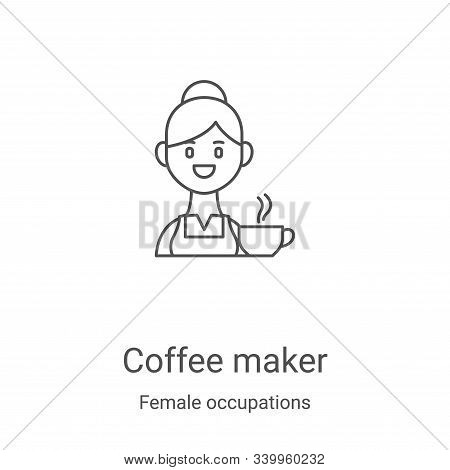 coffee maker icon isolated on white background from female occupations collection. coffee maker icon