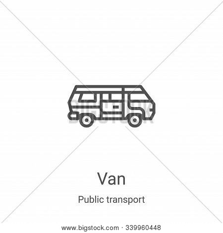 van icon isolated on white background from public transport collection. van icon trendy and modern v