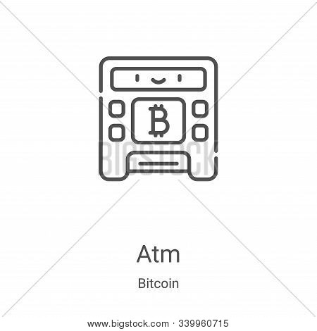 atm icon isolated on white background from bitcoin collection. atm icon trendy and modern atm symbol