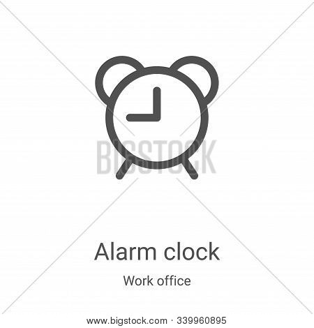 alarm clock icon isolated on white background from work office collection. alarm clock icon trendy a