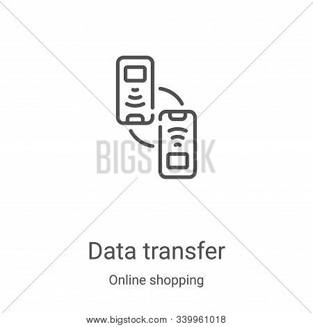 data transfer icon isolated on white background from online shopping collection. data transfer icon