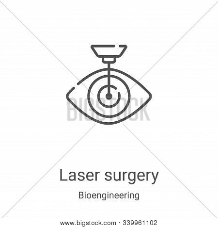 laser surgery icon isolated on white background from bioengineering collection. laser surgery icon t