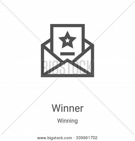 winner icon isolated on white background from winning collection. winner icon trendy and modern winn