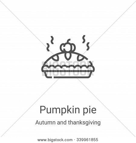 pumpkin pie icon isolated on white background from autumn and thanksgiving collection. pumpkin pie i