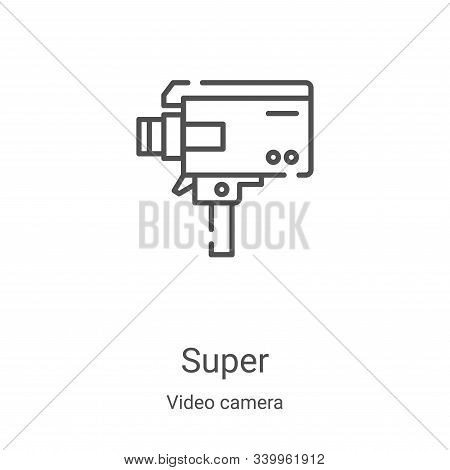 super icon isolated on white background from video camera collection. super icon trendy and modern s