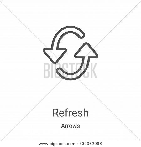 refresh icon isolated on white background from arrows collection. refresh icon trendy and modern ref
