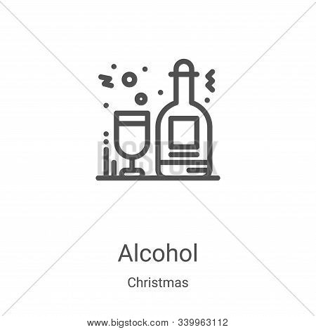alcohol icon isolated on white background from christmas collection. alcohol icon trendy and modern