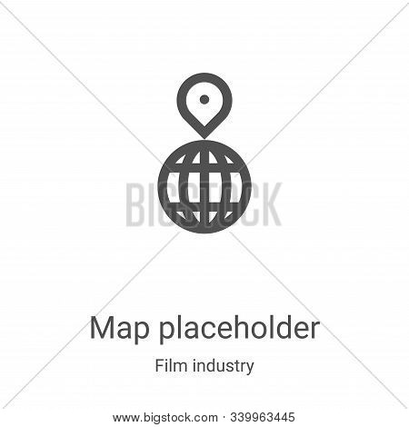map placeholder icon isolated on white background from film industry collection. map placeholder ico