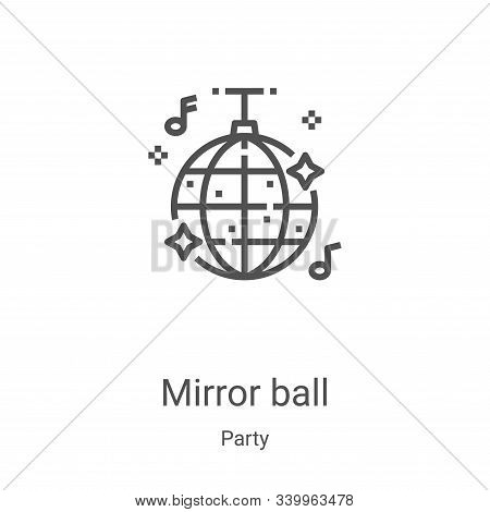 mirror ball icon isolated on white background from party collection. mirror ball icon trendy and mod