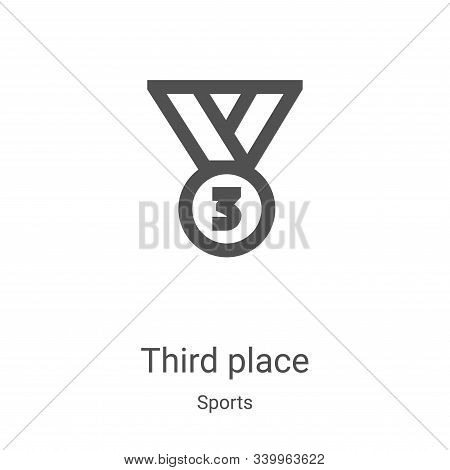 third place icon isolated on white background from sports collection. third place icon trendy and mo