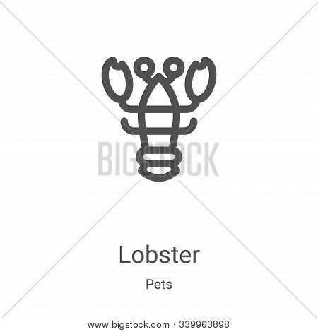 lobster icon isolated on white background from pets collection. lobster icon trendy and modern lobst