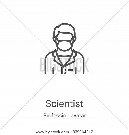 scientist icon isolated on white background from profession avatar collection. scientist icon trendy