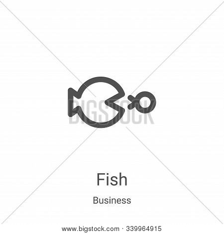 fish icon isolated on white background from business collection. fish icon trendy and modern fish sy