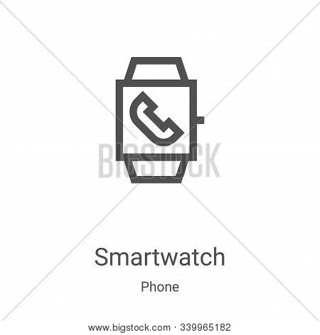 smartwatch icon isolated on white background from phone collection. smartwatch icon trendy and moder