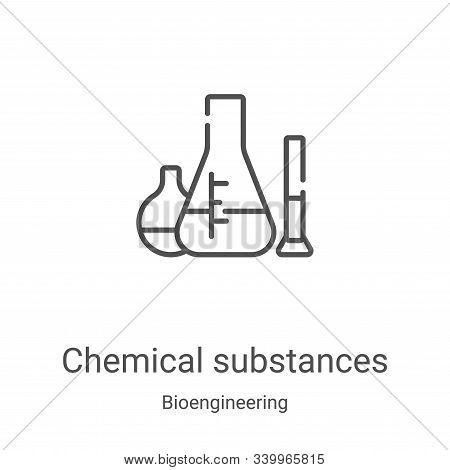 chemical substances icon isolated on white background from bioengineering collection. chemical subst