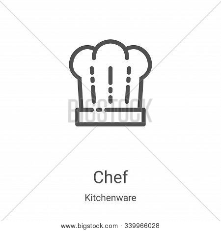 chef icon isolated on white background from kitchenware collection. chef icon trendy and modern chef