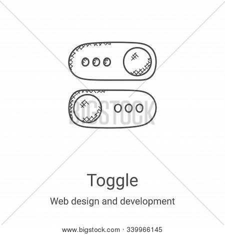 toggle icon isolated on white background from web design and development collection. toggle icon tre