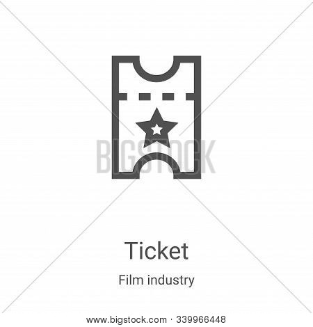 ticket icon isolated on white background from film industry collection. ticket icon trendy and moder