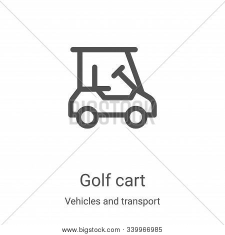 golf cart icon isolated on white background from vehicles and transport collection. golf cart icon t