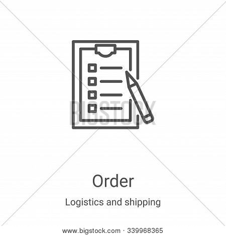 order icon isolated on white background from logistics and shipping collection. order icon trendy an