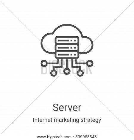 server icon isolated on white background from internet marketing strategy collection. server icon tr