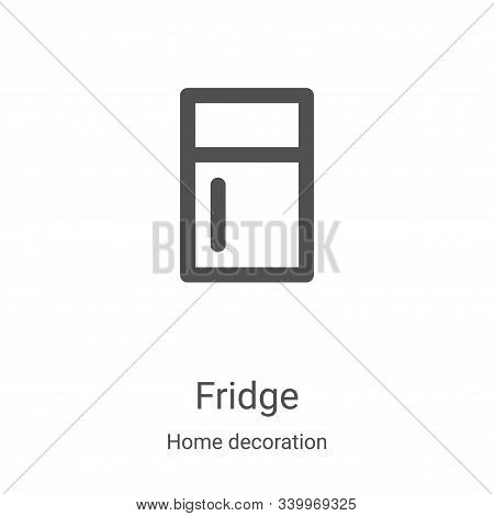fridge icon isolated on white background from home decoration collection. fridge icon trendy and mod