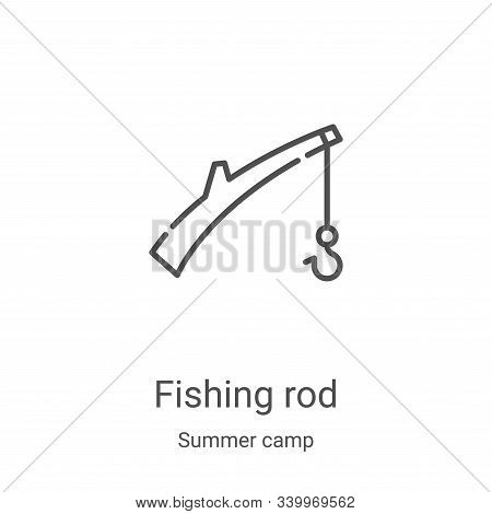 fishing rod icon isolated on white background from summer camp collection. fishing rod icon trendy a