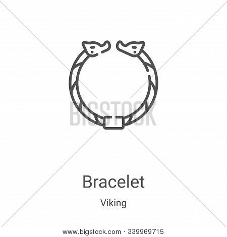 bracelet icon isolated on white background from viking collection. bracelet icon trendy and modern b