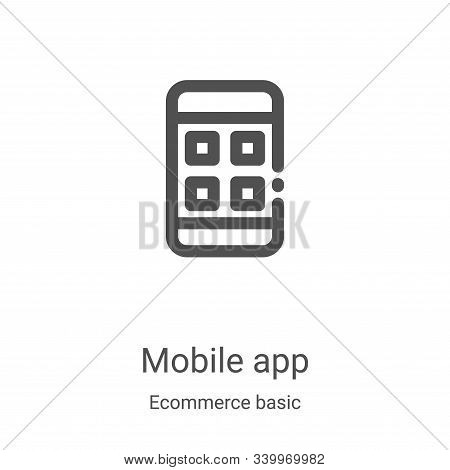 mobile app icon isolated on white background from ecommerce basic collection. mobile app icon trendy