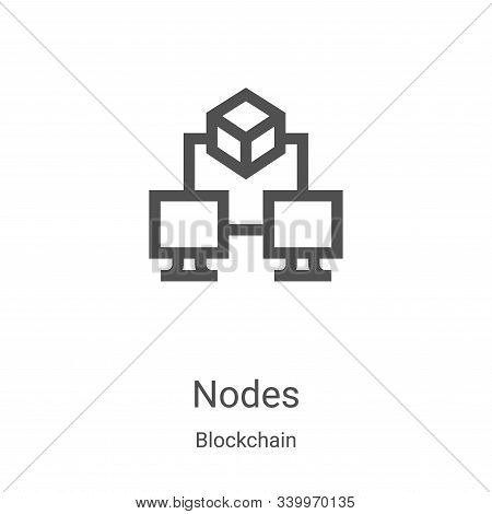 nodes icon isolated on white background from blockchain collection. nodes icon trendy and modern nod